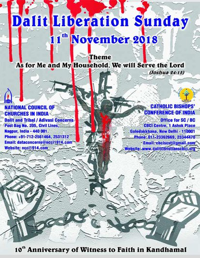 Dalit Liberation Sunday 2018 National Council of Churches in India