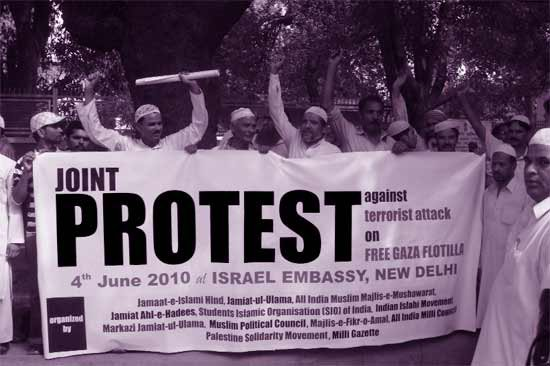 Protest by Muslim organisations in Delhi on 4 June